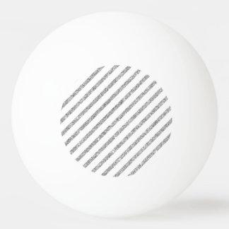 Elegant Silver Glitter Diagonal Stripes Pattern Ping Pong Ball