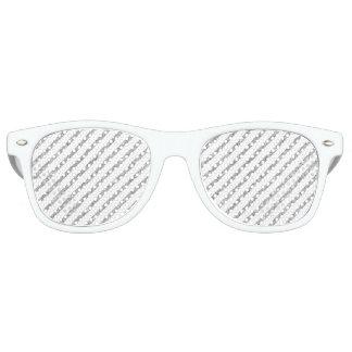 Elegant Silver Glitter Diagonal Stripes Pattern Sunglasses