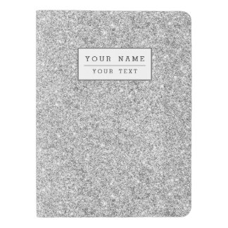Elegant Silver Glitter Extra Large Moleskine Notebook
