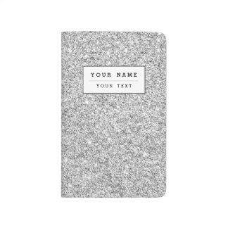 Elegant Silver Glitter Journal