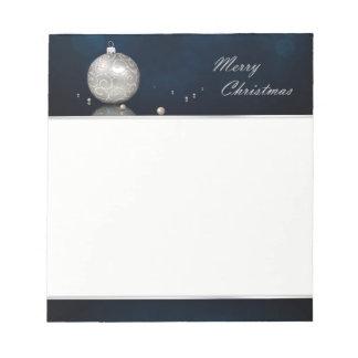 Elegant Silver Glitter Ornament - Notepad
