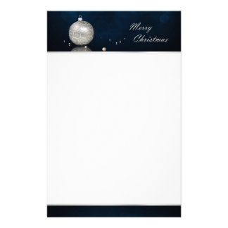 Elegant Silver Glitter Ornament - Stationery
