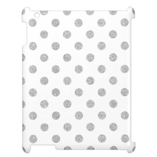 Elegant Silver Glitter Polka Dots Pattern Case For The iPad