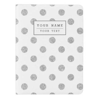 Elegant Silver Glitter Polka Dots Pattern Extra Large Moleskine Notebook