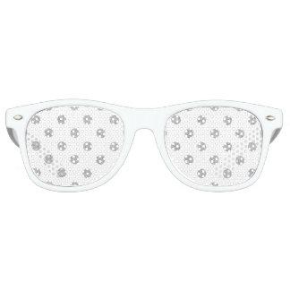 Elegant Silver Glitter Polka Dots Pattern Sunglasses