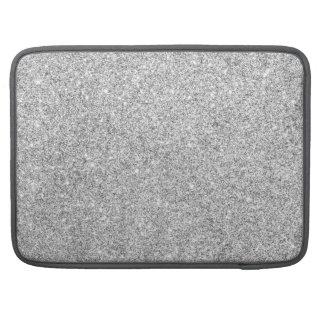 Elegant Silver Glitter Sleeves For MacBooks