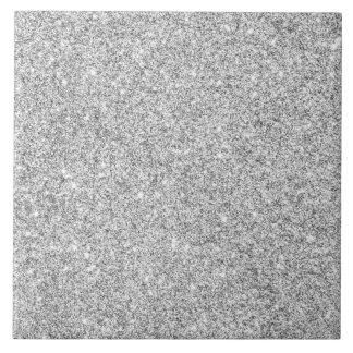 Elegant Silver Glitter Tile