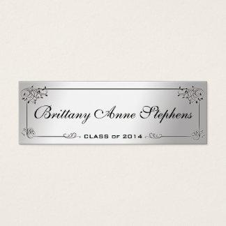 Elegant Silver Graduation Name Card Insert