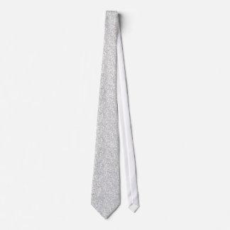 Elegant Silver Gray Glitter & Sparkles Tie