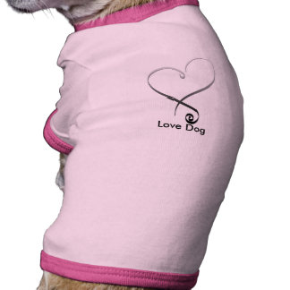 Elegant silver heart DIY Template Dog Clothes