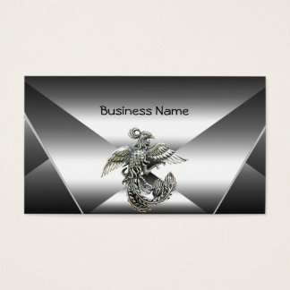 Elegant Silver Metal Look Chrome Jewel Business Business Card