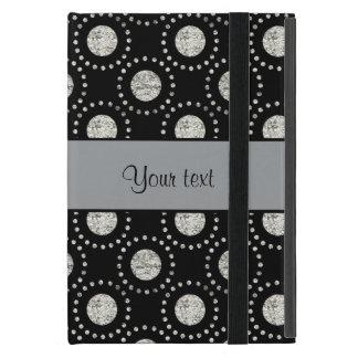 Elegant Silver Polka Dots Black Case For iPad Mini