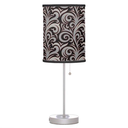 Elegant Silver Verdure Pattern Desk Lamp