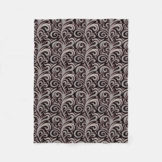 Elegant Silver Verdure Pattern Fleece