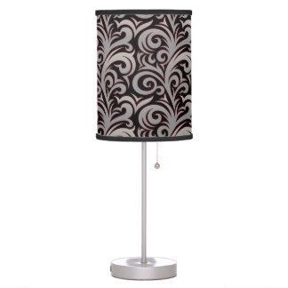 Elegant Silver Verdure Pattern Table Lamp