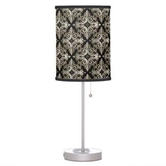 Elegant Silver Vonster Pattern Table Lamp
