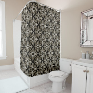 Elegant Silver Vonster Shower Curtain