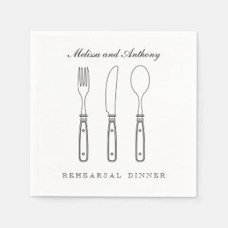 Elegant Silverware Wedding Napkin Disposable Napkins