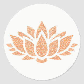 Elegant Simple Abstract Lotus Flower Sticker
