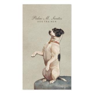 Élégant simple animal vintage frais d'entraîneur carte de visite standard