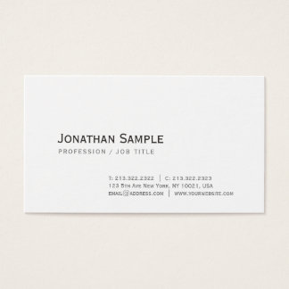Elegant Simple Design Chic Trendy Graphic White Business Card