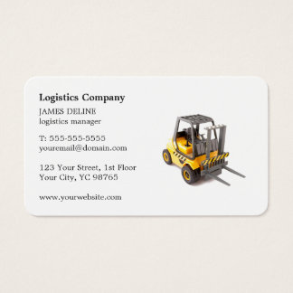 Elegant Simple Forklift Logistics Company Business Card