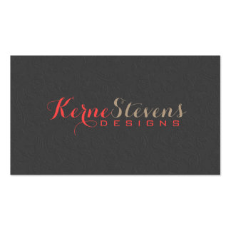 Elegant Simple Gray Damasks Embossed Look 3 Double-Sided Standard Business Cards (Pack Of 100)