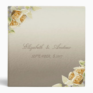 Elegant Simple Roses Wedding Binder