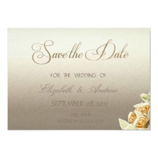Elegant Simple,Roses Wedding Save the date Card