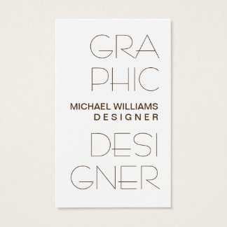 Elegant Simple Target Professional Graphical Business Card