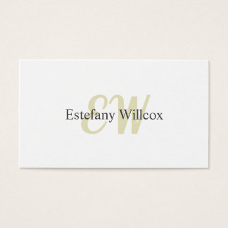 Elegant Simple Target Professional Minimum Business Card