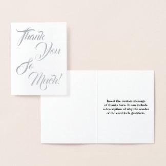 "Elegant & Simple ""Thank You So Much!"" Card"