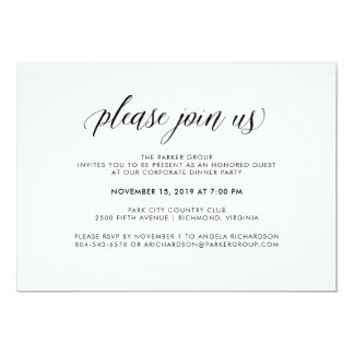 Elegant Simple Typography | Corporate Celebration Card