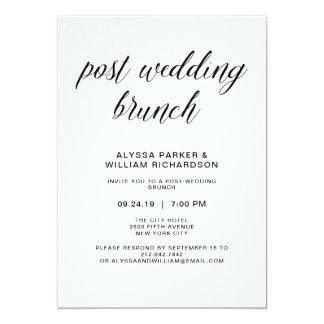 Elegant Simple Typography Post Wedding Brunch Card