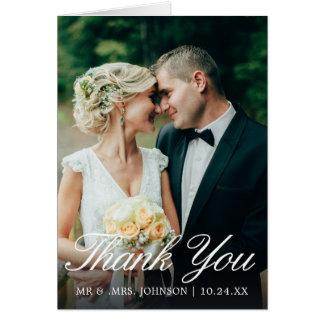 Elegant Simple Winter Wedding Thank You Card