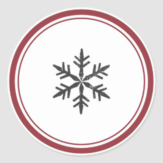 Elegant Single Snowflake Sticker