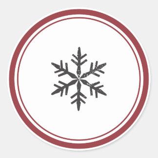 Elegant Single Snowflake Sticker
