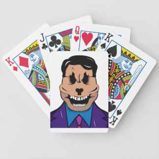 Elegant skull bicycle playing cards