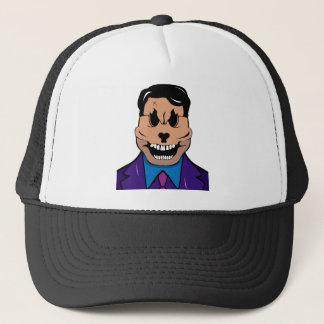 Elegant skull trucker hat