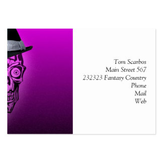 elegant skull with hat,hot pink (C) Pack Of Chubby Business Cards