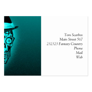 elegant skull with hat,mint (C) Pack Of Chubby Business Cards