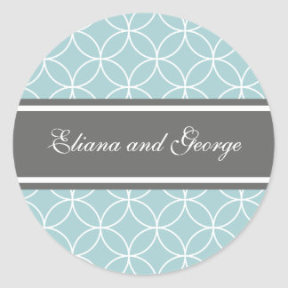 Elegant Slate and Blue stickers
