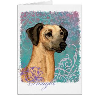 Elegant Sloughi Card