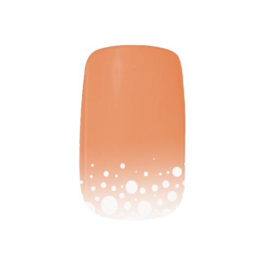 Elegant Snow Dots Halloween Orange Minx Nail Art