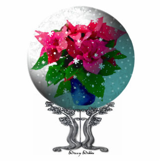 Elegant Snow globe Ornament Photo Sculpture Ornament