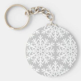 Elegant Snowflake Pattern Keychain