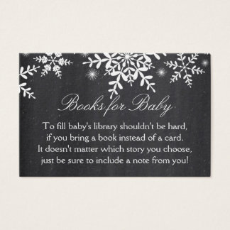 Elegant Snowflakes Baby Shower Book Request Card