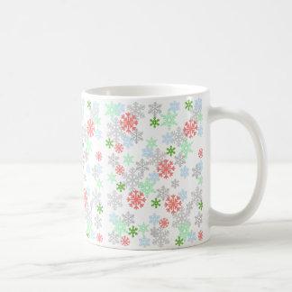Elegant Snowflakes Basic White Mug