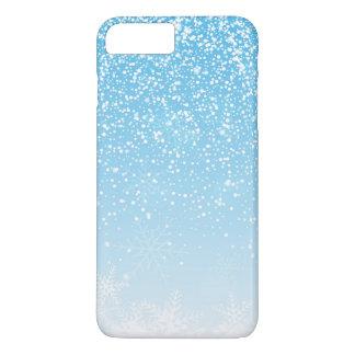 Elegant Snowflakes Blue Background   Phone Case