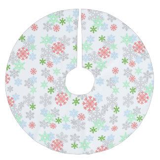 Elegant Snowflakes Brushed Polyester Tree Skirt